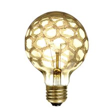 Crystal 40W Amber Marble Incandescent Light Bulb (Set of 3)