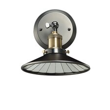Nostalgic Vintage 1-Light Wall Sconce with Mirrored Reflector Shade
