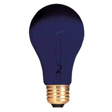 75W Black 120-Volt Incandescent Light  Bulb