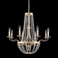 Early American 8 Light  Chandelier