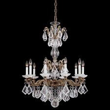 La Scala Rock Crystal 10 Light Chandelier