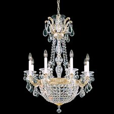 La Scala Empire 8 Light Basket Chandelier