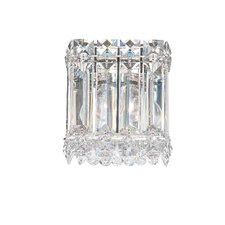 Quantum One Light Wall Sconce in Polished Silver