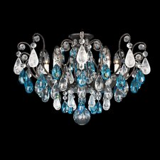 Renaissance Rock Crystal 8 Light Semi Flush Mount