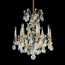 Versailles Rock Crystal 8 Light Chandelier