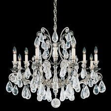 Versailles Rock Crystal 12 Light Chandelier