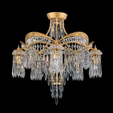 Victorian 5 Light Semi Flush Mount