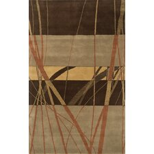 Edge Brown Multi Rug