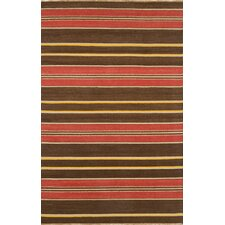 <strong>Continental Rug Company</strong> City Stripes Brown Rug
