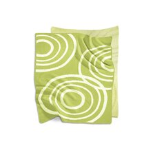 Organic Knit Blanket in Lawn Green