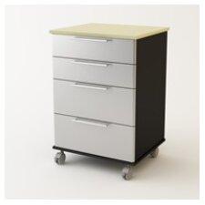 """35"""" H x 23.69"""" W x 20.56"""" D 4 Drawer Cart Storage Cabinet"""