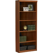 5-Shelf Bookcase in Expert Plum