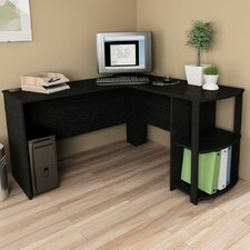 Corner Desk with 2 Shelves