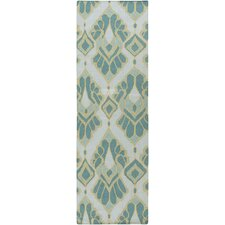 Voyages Teal Ikat/Suzani Area Rug
