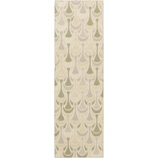 Voyages Olive Geometric Area Rug