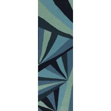 <strong>Malene b</strong> Voyages Midnight Blue/Malachite Green  Rug