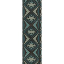 Destinations Charcoal Gray/Malachite Blue Area Rug