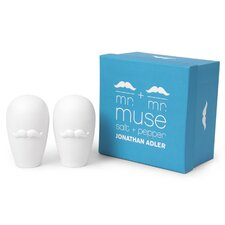 Mr and Mr Muse Salt and Pepper Shakers