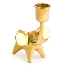 Elephant Brass Candle Holder