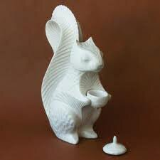 Squirrel Ring Box Figurine