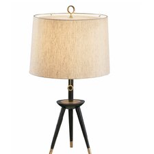 "Ventana Tripod 26"" H Table Lamp with Oval Shade"