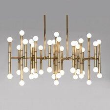 <strong>Jonathan Adler</strong> Meurice 42 Light Rectangular Chandelier