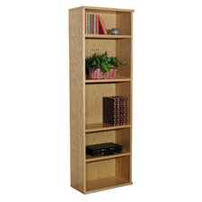 "Heirloom 73.5"" H Heavy Duty Bookcase in Oak Veneer"
