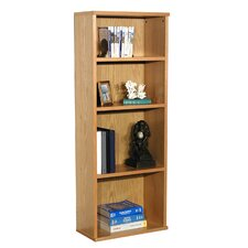 "Heirloom 62"" H Heavy Duty Bookcase in Oak Veneer"