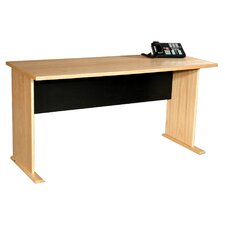 "Modular Real Oak Wood Veneer 60"" W Panel Office Desk"