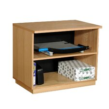 "Modular Real Oak Wood Veneer 29.5"" Oak Panel Open Storage Cabinet"