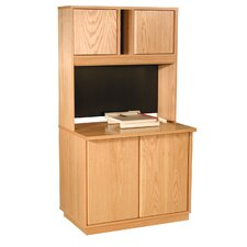 "Modular Real Oak Wood Veneer 36"" Panel Storage Set"