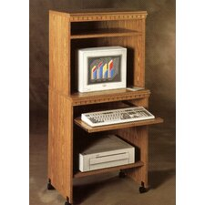 "<strong>Rush Furniture</strong> Americus 25"" W Computer Trolley in Oak"