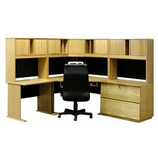 Office Modulars Corner Desk with Lateral File