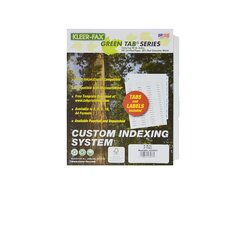 Custom Indexing System (Set of 25)
