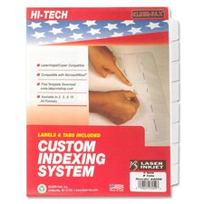 Index Dividers,Laser/Inkjet,Unpunched,8-Tab,5 Sets/PK,White