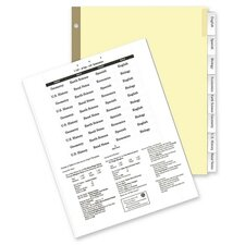"Insertable Ring Book Indexes, 8-Tabs, 11""x8-1/2"", Clear"