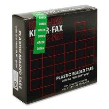 """Hanging File Folder Tabs, 2"""", 1/5 Cut, 25/PK, Green"""