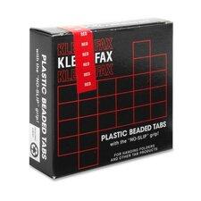 """Hanging File Folder Tabs, 2"""", 1/5 Cut, 25/PK, Red"""