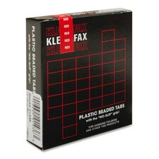 "Hanging File Folder Tabs, 3-1/2"", 1/3 Cut, 25/PK, Red"