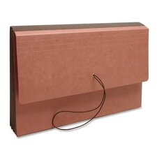 """Expanding Wallet,w/Elastic Clsre, 3-1/2"""" Exp., 15""""x10"""", Redrope"""