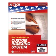 Custom Indexing System (Set of 5)