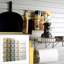 8' Standard Grade Garage Organizer Slatwall in Weathered Grey
