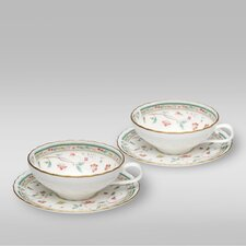 <strong>Noritake</strong> Hana Sarasa Tea Cup and Saucer (Set of 2)
