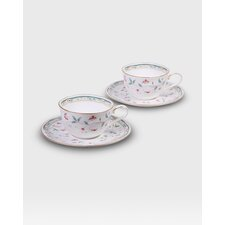 Hana Sarasa Cup and Saucer (Set of 2)