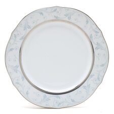 "Regina Platinum 9"" Scalloped Accent Plate"