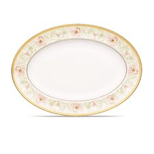 "Blooming Splendor 16"" Oval Platter"