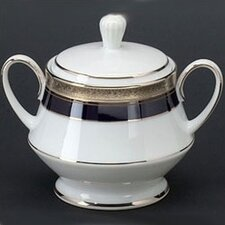 Crestwood Cobalt Platinum 10 oz. Sugar Bowl with Cover