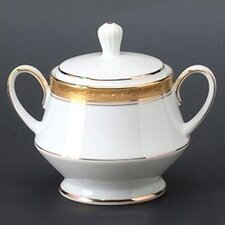 <strong>Noritake</strong> Crestwood Gold 10 oz. Sugar Bowl with Cover