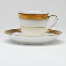 <strong>Noritake</strong> Crestwood Gold 3 oz. After Dinner Cup and Saucer