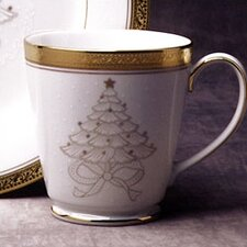 Crestwood Gold 12 oz. Holiday Accent Mug (Set of 4)